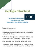 Geología Estructural Unidad 1