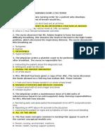 Fundamentals of Nursing Exam 2