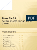 Capital Assets Pricing Model (CAPM)