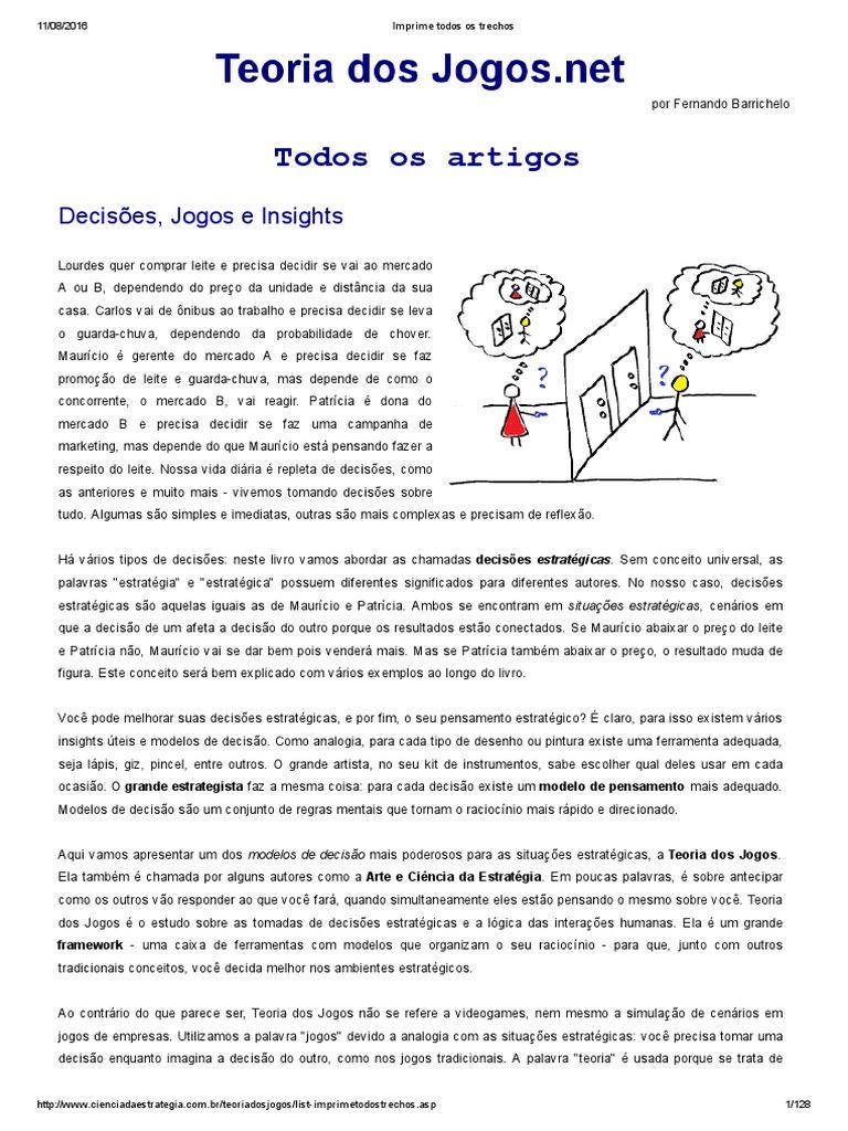 d6b6a0f7e Livro Teoria Dos Jogos
