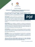 CEAAL Paraguay Comunicado