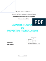 Administración de Proyectos Tecnológicos