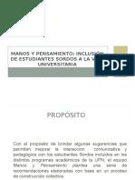 Sugerencias a Docentes Universitarios Inclusion Estudiantes Sordos 2013