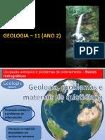 1.1 Ocupação Antrópica e Problemas de Ordenamento - Bacias Hidrográficas