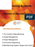 Context of Manufacturing