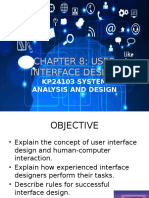 Chapter 8 (Updated) User Interface Design