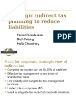 Strategic indirect tax planning to reduce liabilities