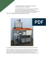 La EPN Adquirió Tres Modernos Equipos Para El Laboratorio Docente de Hidráulica de La Facultad de Ingeniería Civil y Ambiental