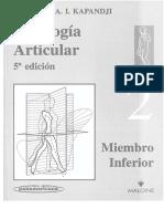 2. Fisiologia Articular - Miembro Inferior