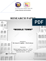 MIDDLE TOWN- REAL ESTATE BUSINESS