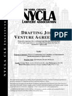 Drafting Joint Venture Agreements - 04.21.15