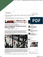 Es La Acumulación de Penas de Cárcel Viable en El Perú