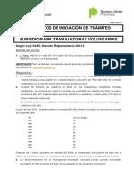 Volante Ley 14245 - Manzaneras Julio 2016