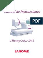 Janome Mc350e Manual de Uso