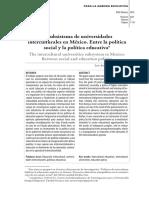 El subsistema de universidades interculturales en México. Entre la política social y la política educativa