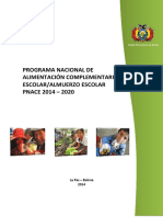 Programa Nacional de Alimentacion Complementaria Escolar