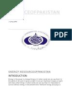 ENERGY RESOURCES OF PAKISTAN.docx