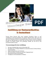 Parkrestaurant Internship