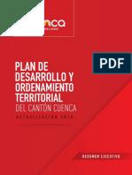 Resumen Ejecutivo Plan de Desarrollo y Ordenamiento Territorial