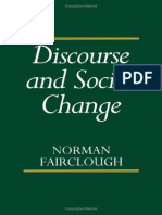 Discourse and Social Change Norman Fairclough 1992
