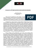 HORIZONTES DE INNOVACIÓN EN EDUCACIÓN SECUNDARIA