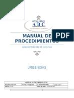 Manual de Procedimientos-Urgencias