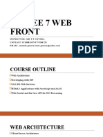 Lesson 1 Java Web Front End