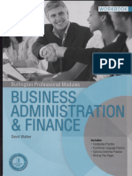 Business Administration Finance Student Book