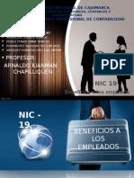 NIC 19 Beneficios a Los Empleados