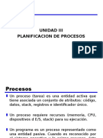 Unidad III Planificacion de Procesos