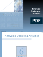 Analysing Operating Activities