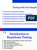 Ch7. Hypothesis Testing