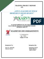 37938170 Project Report on Karvy | Derivative (Finance