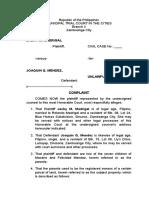 Practice Court Complaint