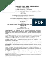 Ley 354 Ley de Patentes de Invención, Modelo de Utilidad y Diseños Industriales