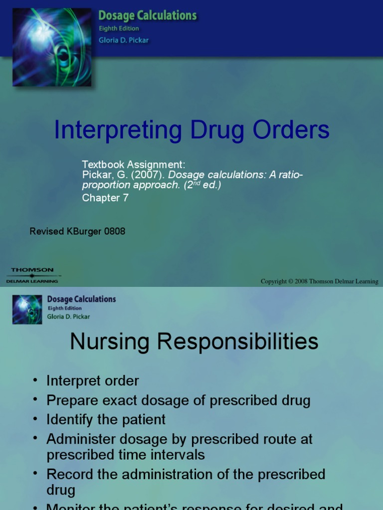 Interpreting Drug Orders Chapter 07 (7 views)