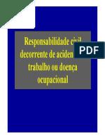Responsabilidade Civil Decorrente de Acidente de Trabalho