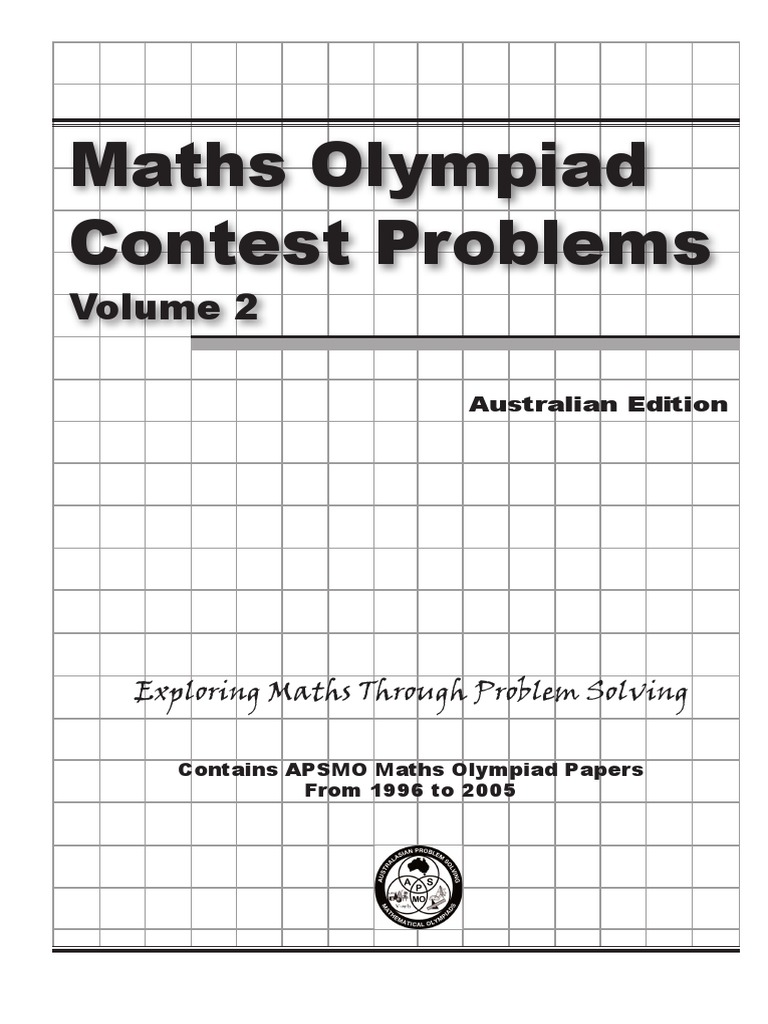 australian problem solving mathematical olympiads 2010 division j