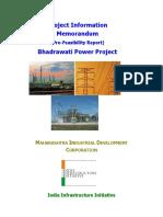 Bhadrawati Project Information Memorandum (PIM)