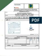 Dmm 01 e Et 001 Especificaciones Tecnicas Sistema de Iluminacion