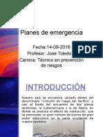 planes de emergencia clase N° 5