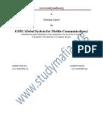 Cse Gsm Report