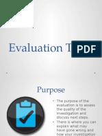 evaluation tips mini lesson
