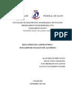 Relatório - Dosagem - Saneamento