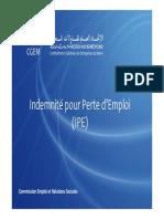 Indemnité Pour Perte d'Emploie IPE