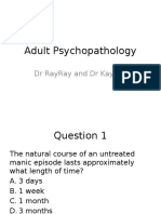 Adult Psychopathology