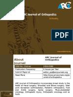 ARC Journal of Orthopedics