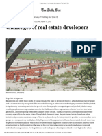 Challenges of Real Estate Developers _ the Daily Star