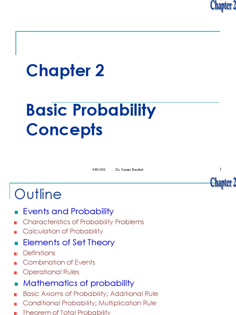 Ch2-Probability Concepts pdf | Probability Theory