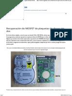 Recuperación de MOSFET de Plaquetas de Discos Rígidos